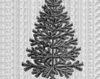 Instant download,Christmas tree,clipart,scrapbooking,collage sheet,vintage picture,black and white,victorian print,clipart,postcard,diy