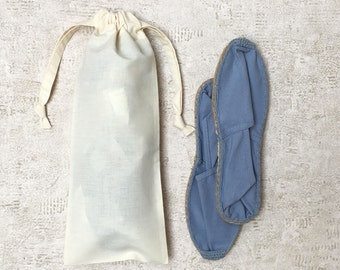 """said french cloth """"canvas to boss"""" ivory - cotton bags - smallbags shoes / shoe bag"""