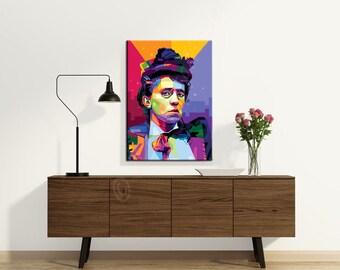 Emma Goldman fine art print personalized gift for her, pop art, canvas framed art - gift idea for woman - pop art - home wall decor - canvas