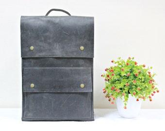 Minimalist backpack, leather rucksack, laptop backack, handmade backpack, women rucksack, leather daypack, school backpack, vintage daypack
