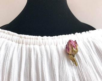Real rose brooch, Flower pin, Flower brooch, Rose brooch,  Rose pin, Mothers Day gift, Birthday gift, Nature gift, Boho jewelry,