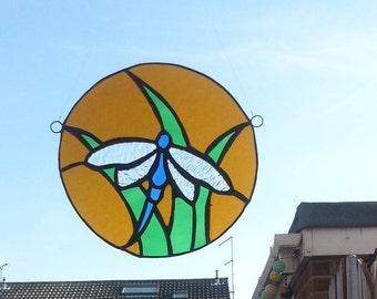Blue Dragonfly Suncatcher