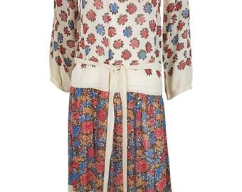 SONIA RYKIEL Vintage Drop Waist Floral Dress (10)