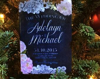Personalized Wedding Invitation Ornament