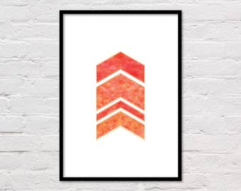 Geometric Art Print, Printable Wall Art, Abstract Art, Modern Wall Art, Orange Print, Gallery Wall Art, Abstract Printable, Geometric Print
