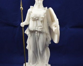 Athena sculpture Goddess  statue ancient Greek Goddess of wisdom and strategy