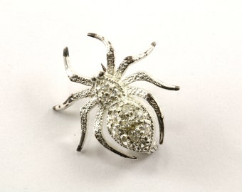 Vintage Spider Crystal Inlay Pin/Brooch 925 Sterling BB 162-E