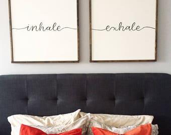 Inhale Exhale Wall Art