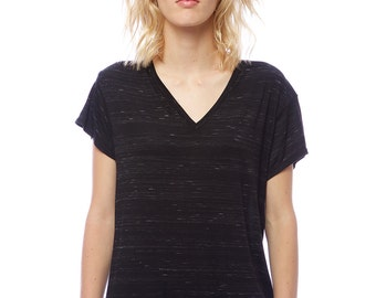 Soft Boyfriend Tee with flutter sleeve and v-neck