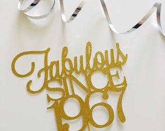 Fabulous since 1967, 1957 in Gold Glitter