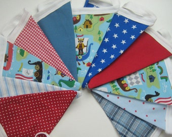 Pennant Garland blue red Viking