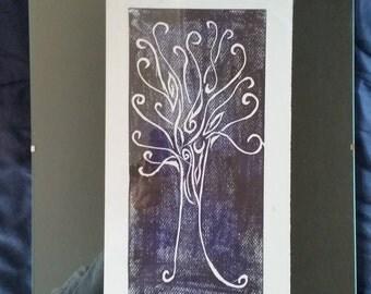 """Katie Fedrick, original etching, 12"""" X 16"""""""