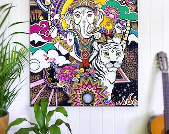 Ganesh Painting - Original Acrylic Painting on Canvas