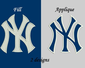New York Yankees Applique Design, New York Yankees Embroidery Design, Instant Download Pattern