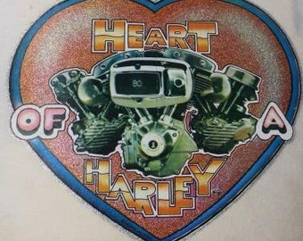 Heart of a Harley Vintage Heat Press Transfer