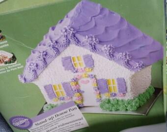House Cake Pan, House Cake, House Warming Cake,Cake, Pan, Cake Pan, Stand up House Cake Pan, Home Cake Pan