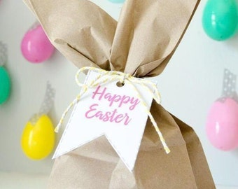 Easter gift tag etsy easter favor tags happy easter gift tags favor tag easter favors printable tags easter bunny easter negle Choice Image