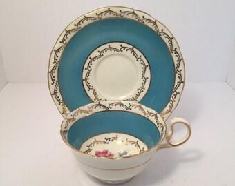 Vintage Aynsley Blue Teacup and