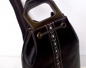 Bag  // Back pack // Leather back pack //  beef skin back pack// spanish leather co