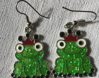 Frog Prince Sparkle earrings