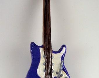Purple Electric Guitar Ornament
