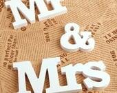 DIY Mr and Mrs Letters Wedding Decoration/DIY Wedding Table Decor/White Mr & Mrs Sign/DIY Personalized Mr and Mrs Wood Sign/White Mr and Mrs