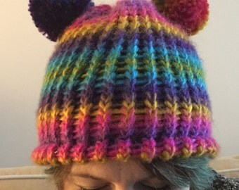 Multicoloured bobble hat
