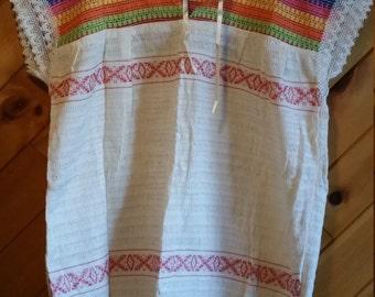 Oaxaca hand-embroidery blouse