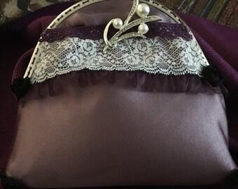 Lilac satin purse