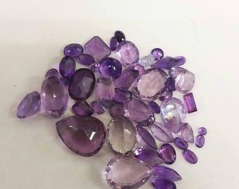 Amethyst/Purple Imitation Gemstone Mix