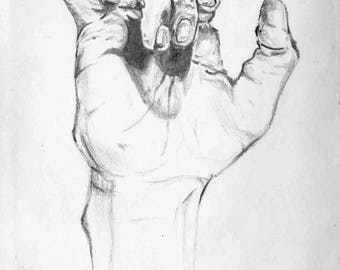 Hand Drawing Print