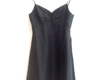 Lanvin en Blue Made in Japan Silk Strap Dress, sz. 36