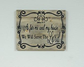 Joshua 24:15 (Rustic)