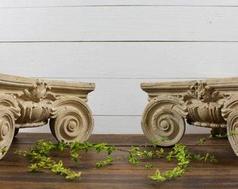 Architectural salvage/ antique ornate plaster capital / Ornate Architectural Salvage/ 1800's-1900's capital