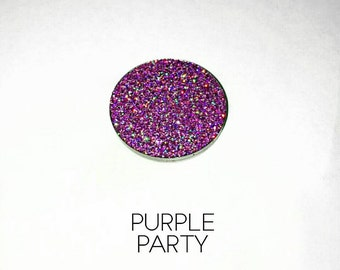 Pressed Glitter Eyeshadow - 'Purple Party'