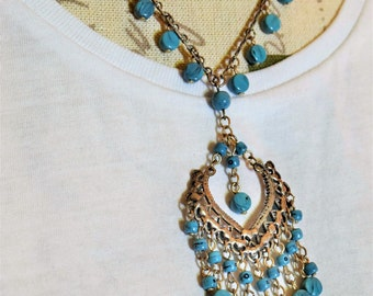 Vintage Necklace with with Turquoise Stones