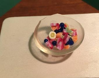 Summer fruit salad bowl
