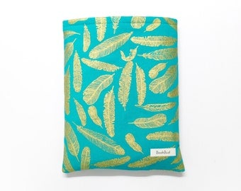 Golden feathers BookBud book sleeve