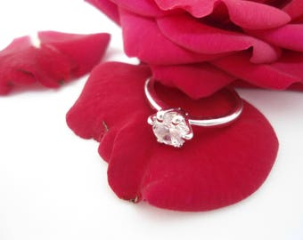 Sterling Silver Ring 925, Engagement Ring, Zircon Ring, Lonely Ring, Women Rings.
