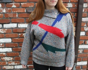 Vintage 80s Mall Girl Sweater Size M