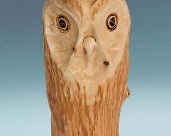 Wood owl - Carved owls - Wooden owls - Wood gifts - Sculpture wood - Bird wood carving - Wood art - Wood owl figure - Bird wood carving