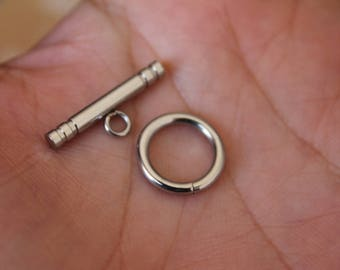 Stainless Steel Toggle Clasp, Jewelry Supplies.