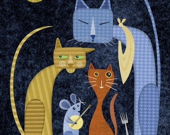 Alley Cats Limited Edition Print
