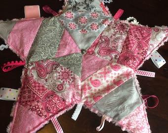 Minky Star Tag Blanket