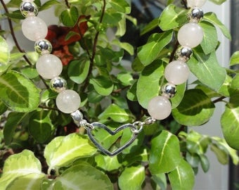 Soaz - Stone and rose quartz necklace solid 925
