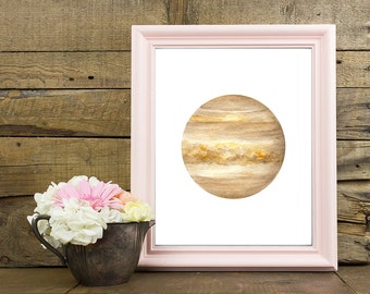 Venus Print, Planet Print, Space Print, Venus Wall Print, Venus Home Decor, Venus Wall Art, Watercolor Venus, Space Wall Art, Solar System