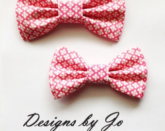 Bow Tie, Dad and Son Bow Ties, Pink Bow Tie, Father Son Bow Ties, Mens Bow Tie,Groomsmen Bow Tie, Bow Tie, Boys Bowtie,Wedding Tie  DS677