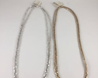 Square Metal Wrap Layered Long Necklace