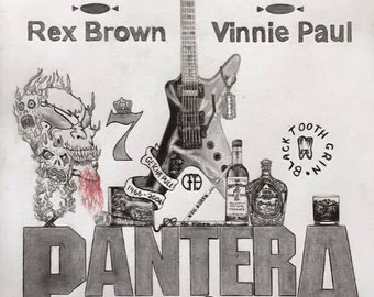 Drawing of my Pantera Tribute ( Framed Print )
