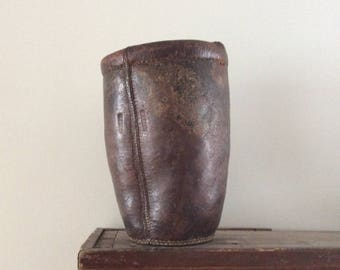 18th/19th Century US Leather Fire Bucket / American Fire Bucket / Kennebunkport Maine / TLONNO